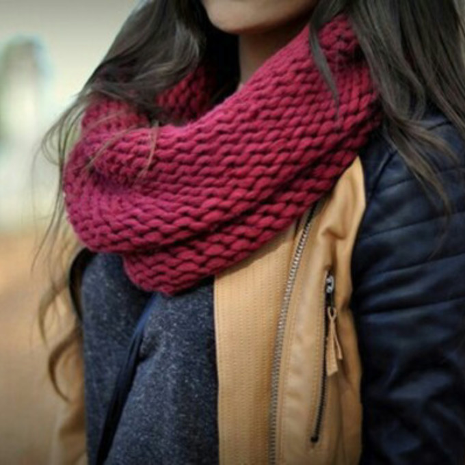 scarf infinity scarf knitted scarf scarf red