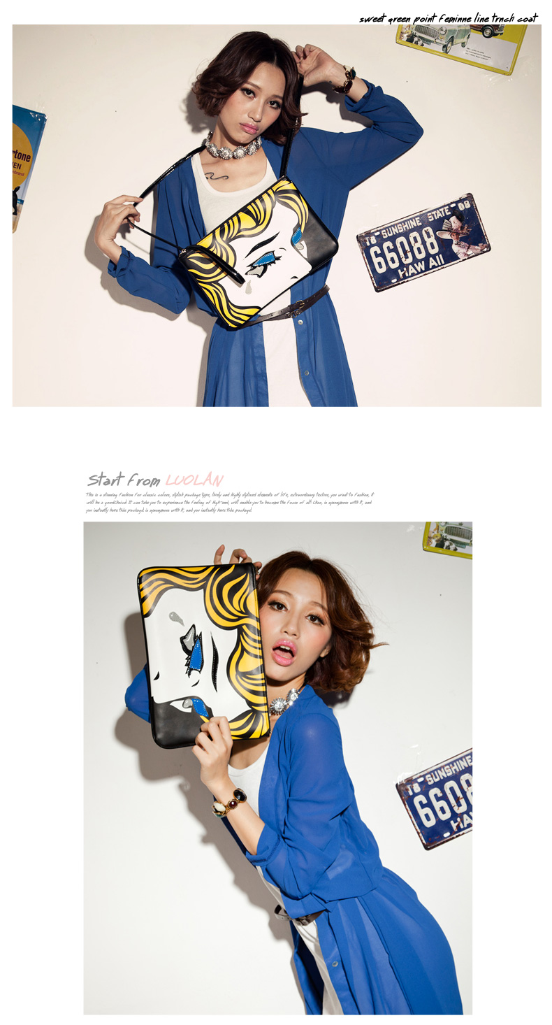 Crying Girl Slim Envelope Clutch - Clutch - 65emall.com