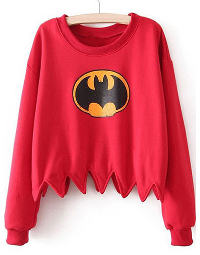 Batman red sweater sweat shirt women