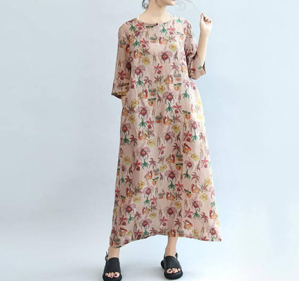 dress maxi dress cotton long dress