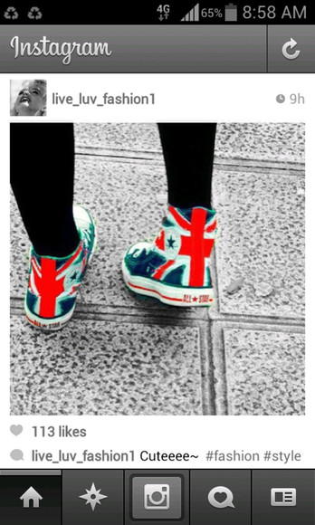 union flag union jack shoes converse converse high tops