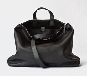 bag leather black handbag
