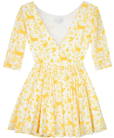 Carolina k yellow otomi aurora dress