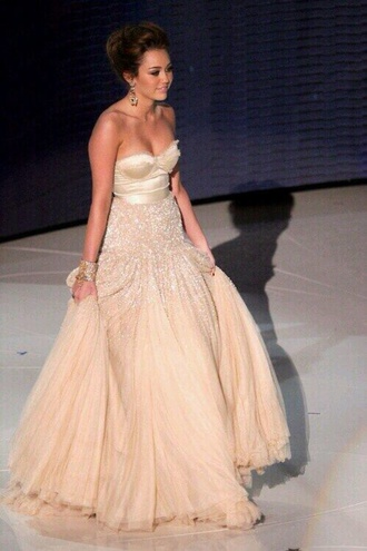 dress miley cyrus nude dress prom dress