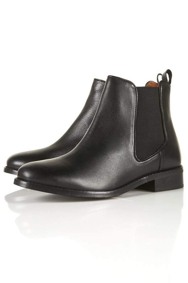 shoes boots leather black boots leather black boots chelsea boots