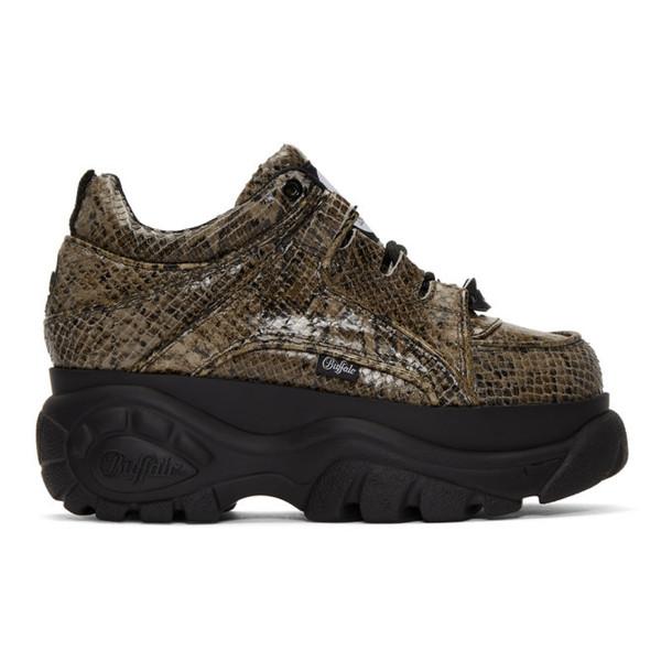 python sneakers platform sneakers beige shoes