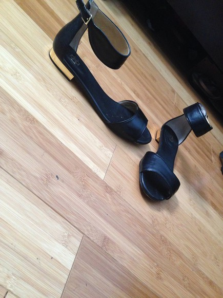 shoes sandals leather gold dope