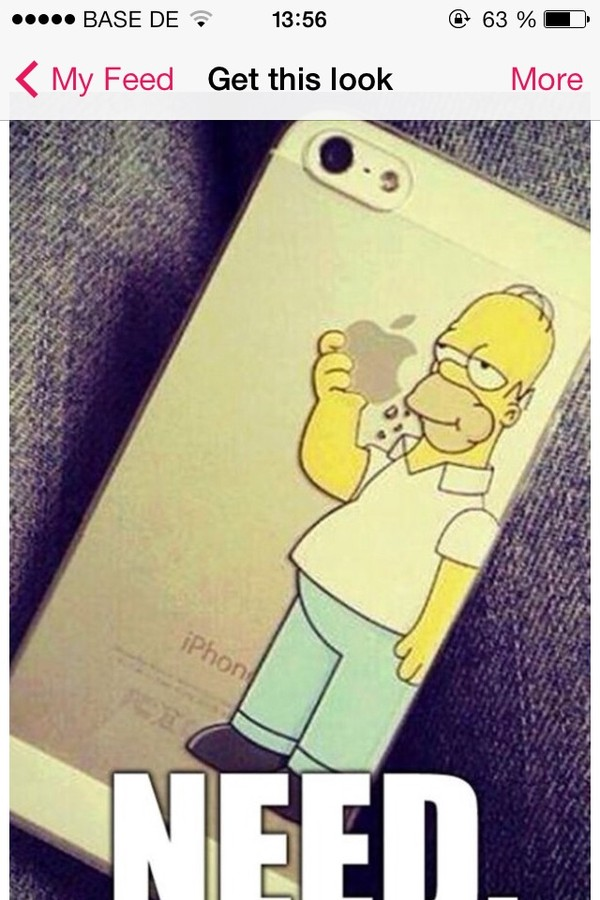 bag iphone case the simpsons