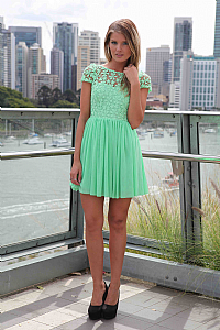 SPLENDED ANGEL DRESS , DRESSES, TOPS, BOTTOMS, JACKETS & JUMPERS, ACCESSORIES, 50% OFF SALE, PRE ORDER, NEW ARRIVALS, PLAYSUIT, COLOUR, GIFT VOUCHER,,Green,LACE,SHORT SLEEVE,MINI Australia, Queensland, Brisbane