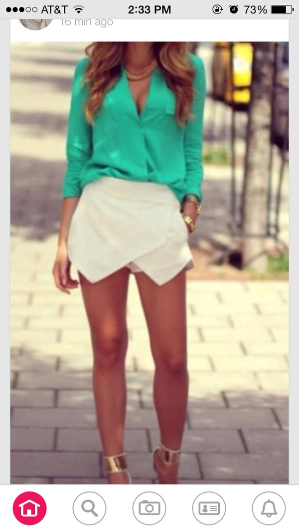 white shorts cute shorts