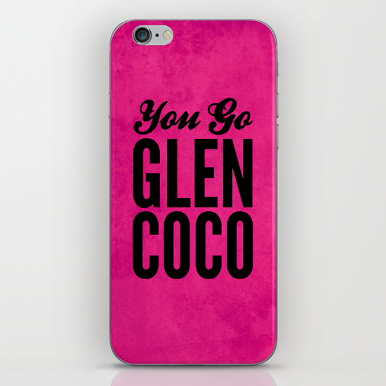 Glen Coco Pink iPhone & iPod Skin by Sandra Amstutz