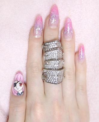 jewels ring nana anime jewelry manga japan kawaii armor ring
