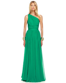 Michael Kors Ruched One-Shoulder Gown - Michael Kors