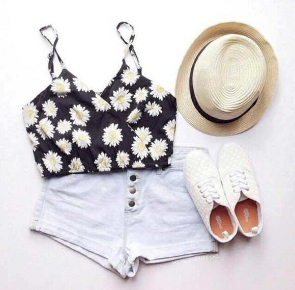 sunflower black top fashion