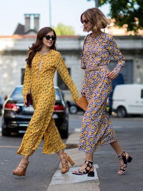 shoes printed sandals sandals sandal heels high heel sandals mid heel sandals brown sandals jumpsuit yellow jumpsuit printed jumpsuit cropped jumpsuit dress maxi dress floral dress floral maxi dress long sleeves long sleeve dress sunglasses black sunglasses spring outfits streetstyle