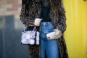 bag,embellished,shoulder bag,denim,jeans,blue jeans,coat,animal print,embellished bag