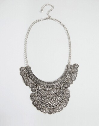 jewels silver jewelry coin necklace