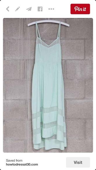 dress mint dress maxi dress