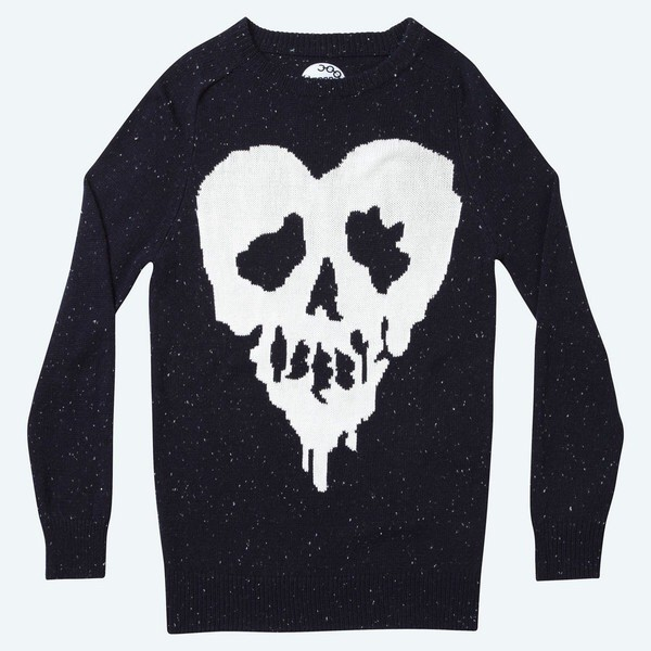donegal skull fucked michael clifford drop dead clothing skull heart sweater heart sweater