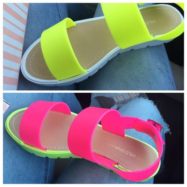 Shoes Sandals Pink Otc Shoes Hot Pink Cute Sandals