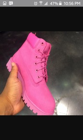 shoes,timberlands,timberland,timberland boots shoes,pink,all pink everything