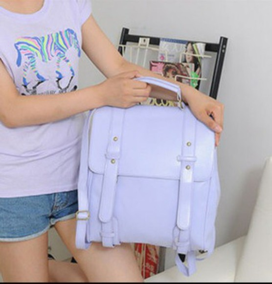 purple bag bag backpack purple backpack cute bag kawaii pastel bag