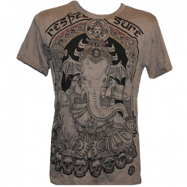 "T-shirt ""ganesh sure"", marron clair - Homme / T-shirts"