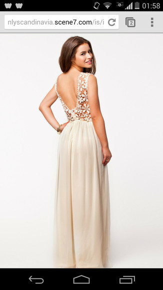 dress ivory promdress