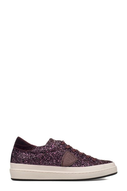 glitter sneakers purple shoes
