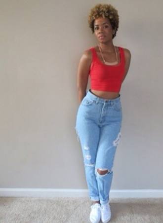 jeans loose fit denim light blue high waisted jeans distressed jeans
