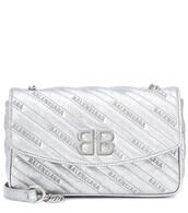 bag,shoulder bag,leather,silver