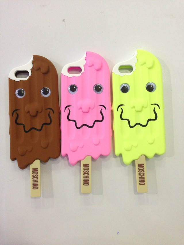 new 1pc/lot 2014 Moschino 3D chocolate case Cute Melt Ice Cream Silicone ice cream cones back case For iphone 5 5s case cover-in Phone Bags & Cases from Electronics on Aliexpress.com