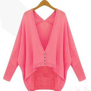 Down long sleeve cardigan sweater