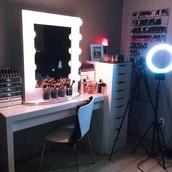 mirror lights,mirror,lights,vanity mirror,makeup table,sunglasses