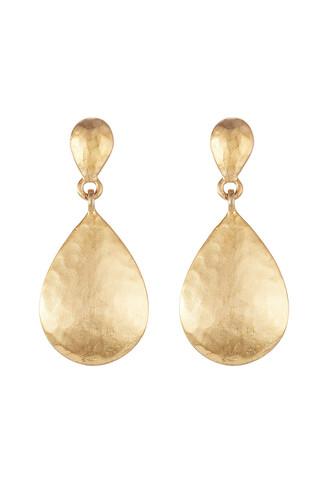 metal earrings gold jewels