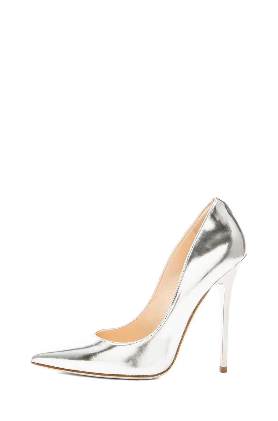 Jimmy Choo | Anouk Leather Pumps in Silver