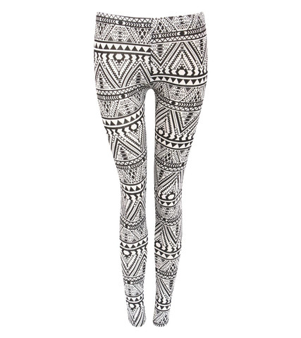 Tia Aztec Monochrome Leggings in Black by Pilot | Pilot