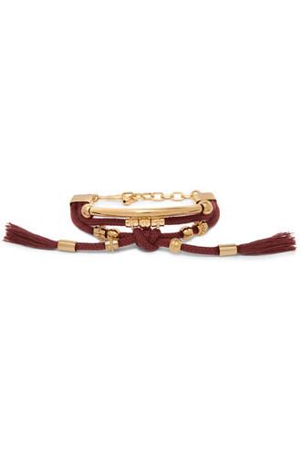 gold burgundy jewels