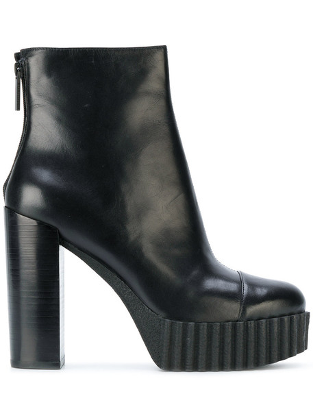 KENDALL+KYLIE women leather black shoes