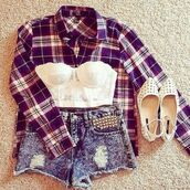 blouse,jacket,shorts,underwear,pants,plaid shirt,bralette,cute outfits,summer outfits,blue,burgundy,flannel,checkered cotton,shirt,plaid,summer,high waisted,shoes,top,lace corset,lace bralette,white crop tops,white shirt,t-shirt,red checkered shirt,white top,studded sandals,cardigan,tank top