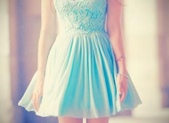 dress blue dress pretty knee length dress short summer dress