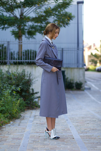 from brussels with love blogger coat bag shoes shirt
