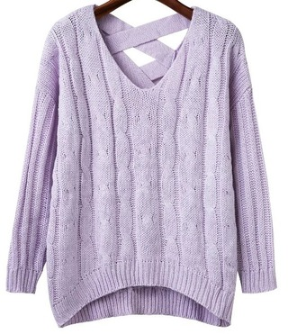 sweater girl girly girly wishlist purple sweatshirt knit knitwear knitted sweater