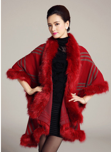 Aliexpress.com : Buy European winter women's boutique Plaid faux fur neck knitted shawl from Reliable shawl fur suppliers on AJT Hi-technology electronics store | Alibaba Group