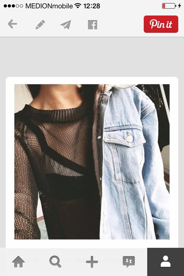 jacket debil denim grunge denim jacket fashion grunge jean jacket