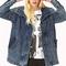 Throwback longline denim jacket | forever21 - 2000065928
