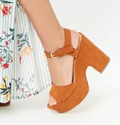 shoes,orange,platform shoes,wedges,strappy,platform sandals