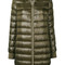 Herno - padded bomber coat - women - feather down/nylon - 46, green, feather down/nylon