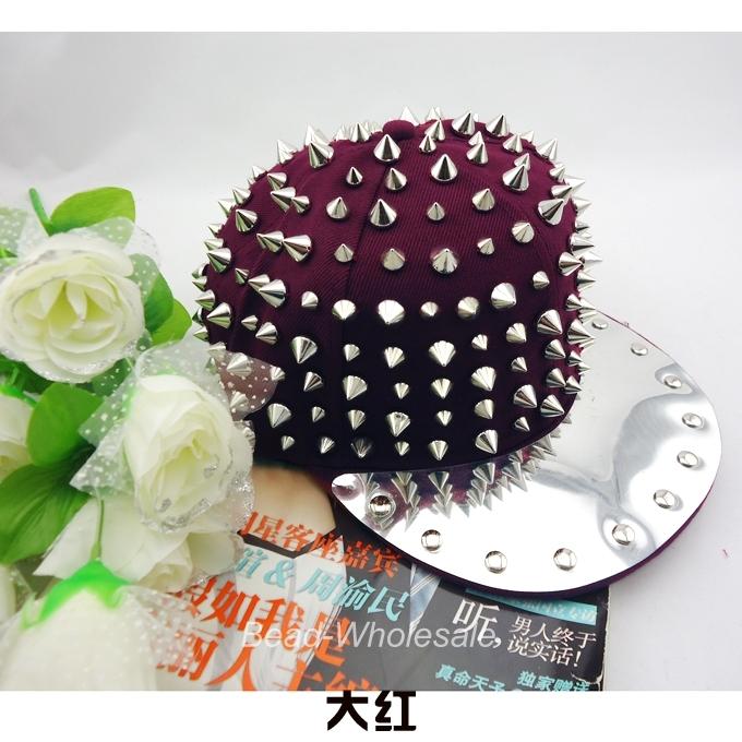 Punk Style Gothic Hedgehog Hip Hop Unisex Hat Rivets Spike Spiky Studded Cap | eBay