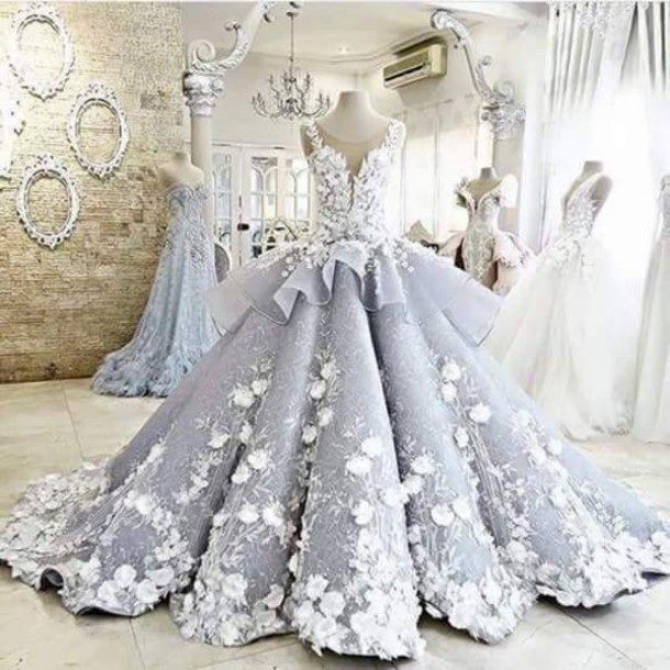 Dress princess dress princess wedding dresses royal for Wedding dress made of flowers